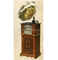 2015 china Nostalgic Brass Horn Turntable Record Player