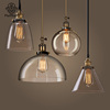 New American Creative Retro Andisen bulb metal with Glass lampshade pendant lamp Restaurant Bar coffee shop 4 lights