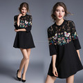 OEM fashion latest ladies summer embriodery dress , women wholesale cotton dress