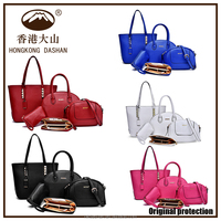 2016 women leather handbag fashion sets design shoulder bags for female online shopping China supplier taobao