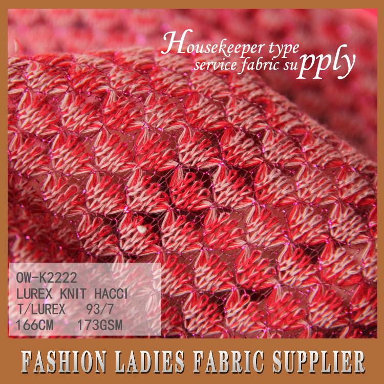ONWAY 2016 T/C Slub Hacci/Hatchi Loose Knit Sweater Fabric, French Terry Fabric