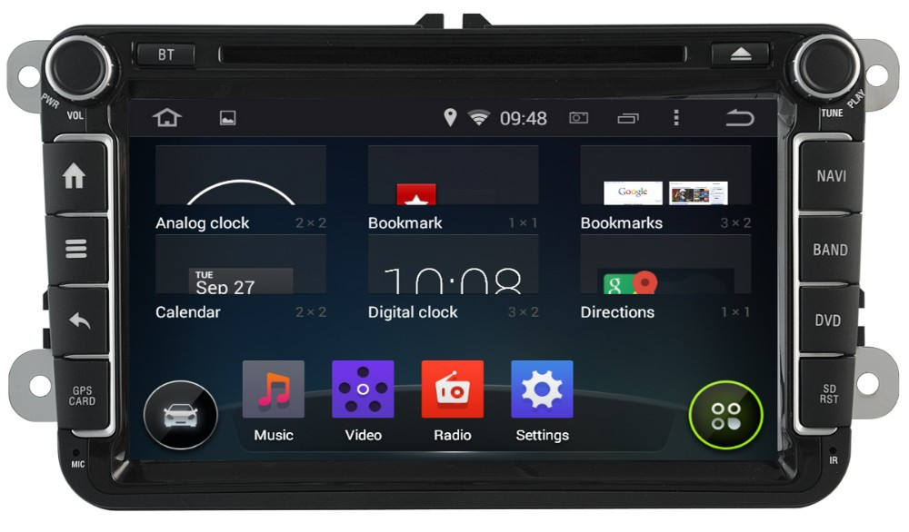 WITSON ANDROID 4.4 FOR VW GOLF 6 CAR VIDEO WITH CAPACTIVE SCREEN BLUETOOTH RDS 3G WIFI