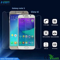 anti fingerprint and scratches security glass film screen protector for samsung galaxy S6