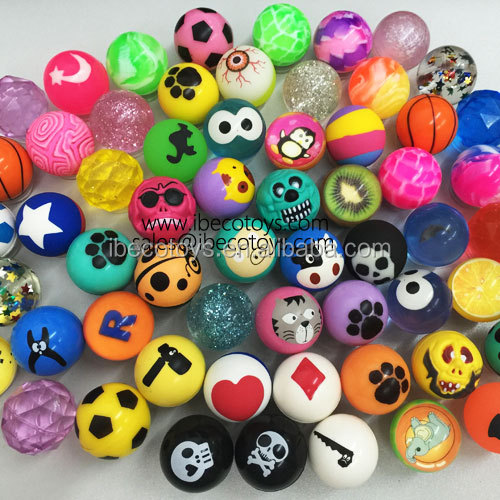 27mm 32mm 45mm Bulk Vending Machine Rubber Bouncing Balls Wholesale