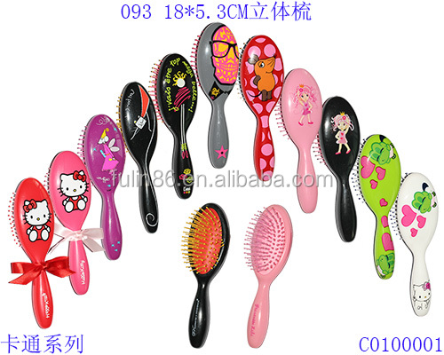 2016 Professionalsmall kids hair brush cartoon make up brushes