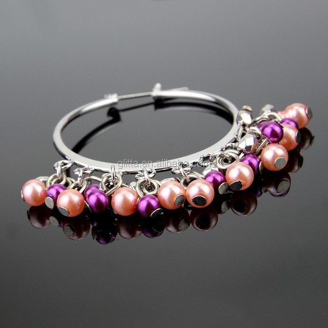 Glitta Fashion Pearl Beads Earring,freshwater pearl earrings,silver plated pearl pendant earring for women ER005