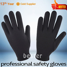 5008 style Cheap long life cotton canvas with black pvc dots gloves