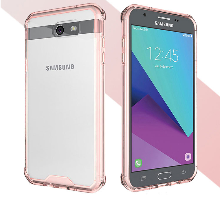 Acrylic back phone cover for samsung j7 2017, case for samsung galaxy j7 2017 tpu bumper case clear