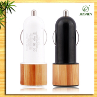 China promotion business gift item/Dual port usb car charger made by real wood