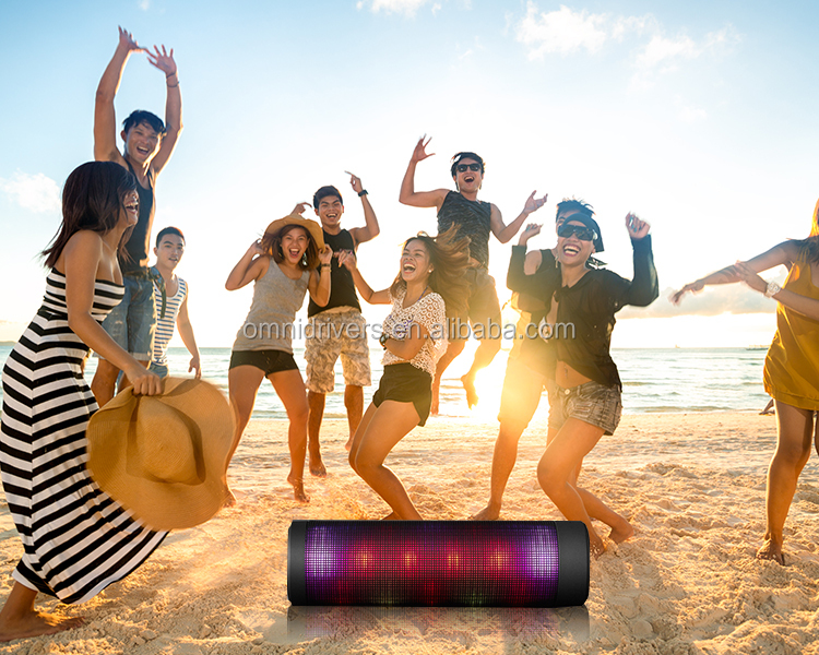 Hip Hop outdoor portable waterproof Bluetooth Audio with LED lighting