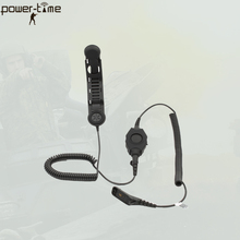 Bone conduction headset for police motorcycle helmet