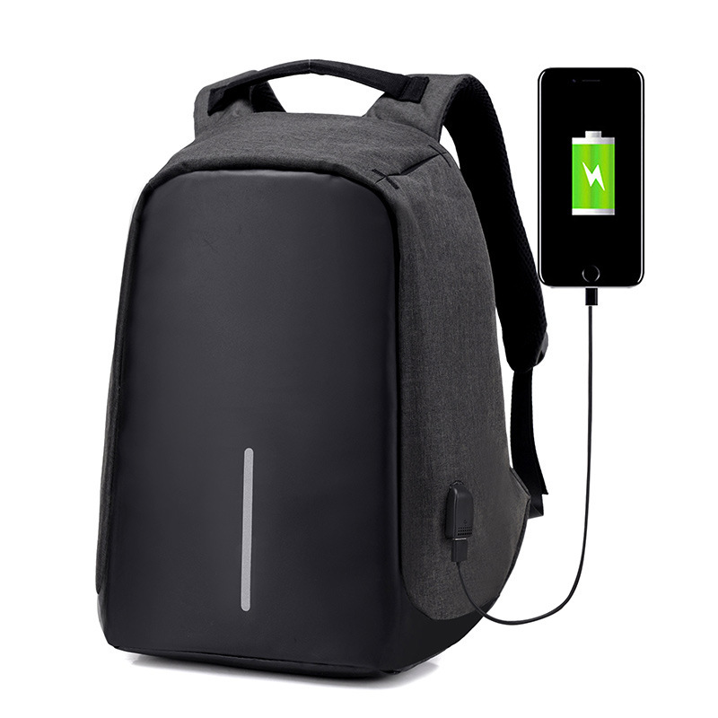 Anti-theft Waterproof Laptop Backpack Men External USB Charge Notebook Backpack