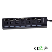 4/7 Port USB 2.0 USB Hub Splitter 480Mbps With Separate On / Off Switch W/ USB Cable For PC / Laptop / Camera / Mouse / Hard Dis