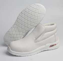 Food industry white liberty safety shoes without lace