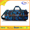 Personalized polyester wholesale custom fancy gym bag with shoe compartment