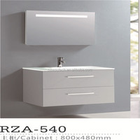 Simple design pvc wall mounted hand washing cabinet with mirror