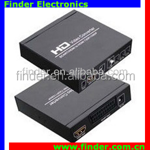 Good quality Scart+HDMI to HDMI converter ales SCART Signal to HDMI 720p or 1080P