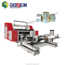 2017 New Automatic High Quality Cheap Non Woven Fabric Paper Bopp Tape Lable Ttr Jumbo Plastic Film Roll Slitting Machine