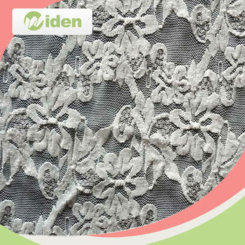 New coming design nylon and spandex material tricot mesh elastic lace fabric