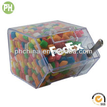 Acrylic Divided Bin with Scoop for Coffee Bean and Candy, 2 Slot Acrylic Divided Box for Candy