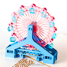 Lovely windmill Children Cards Handmade Birthday 3D Greeting Card designs