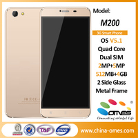 M200 3g phone manufacturer company in china / cheap 5.5 inch smartphone/ oem mobile phone