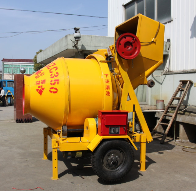 Hydraulic Tipping hopper/ Mechanism Tipping Hopper Concrete Mixer JZC350