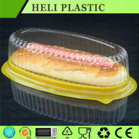 Clear round plastic pie/cake/ bread containers