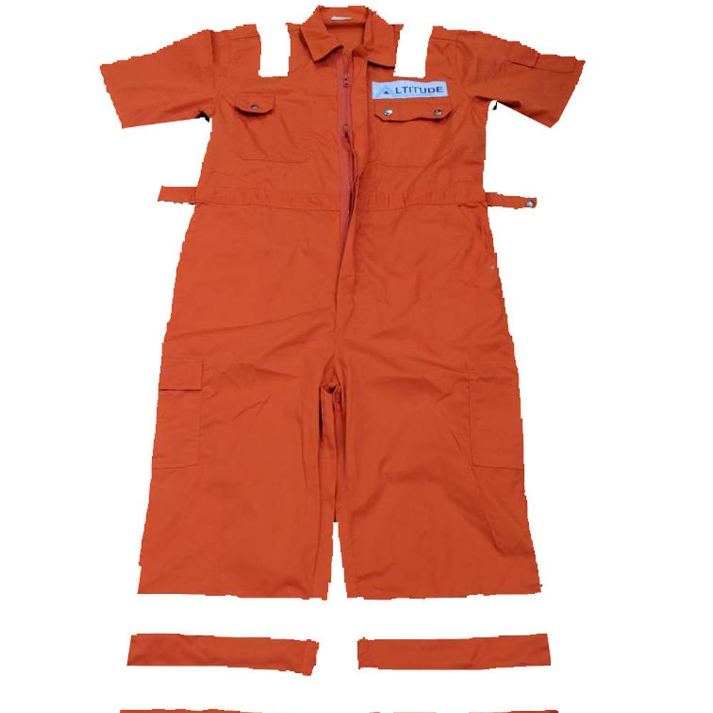 Industrial OEM Work Clothing High Quality 100%Cotton Reflective <strong>Safety</strong> Works Overalls Short Sleeve