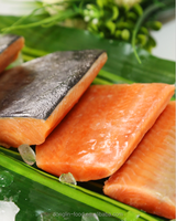 Frozen Wild Pink/Chum Salmon Fish Fillets/Portion