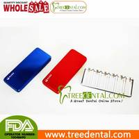 B025-Red Multifunctiona small Instruments Bur Disinfection Box best dental cassettes for sterilization