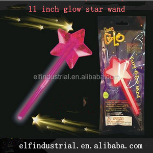 Cheap Promotional Item Led Glow Stick Light Wand Fairy Led Flashing Magic Wand Event Supplies 11 Inch Glow Star Wand