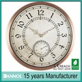 Antique Metal Clock Wall Thermometer Clock