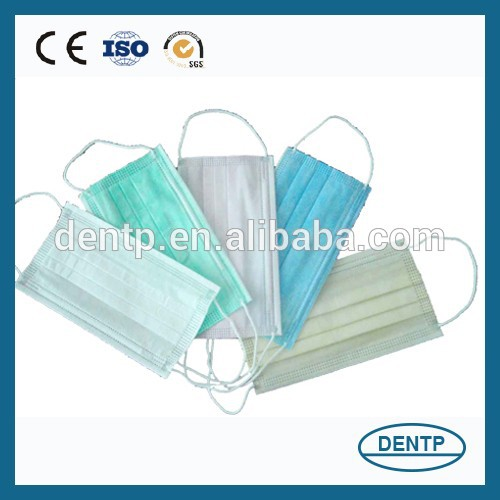 Disposable 3 Ply Nonwoven Cotton Face Mask For Medical/Surgical/Industrial/Electronic/Daily Use