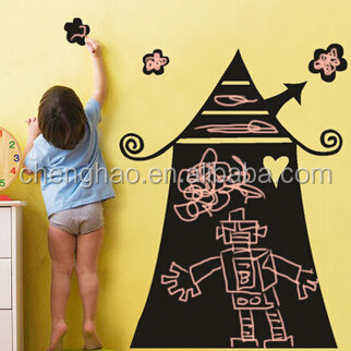 self adhesive and removable chalk writing blackboard for wall