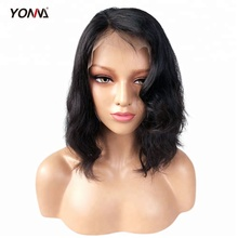 Lace Front Wigs Short Bob Brazilian Virgin Human Hair Wigs Wavy With Baby Hair