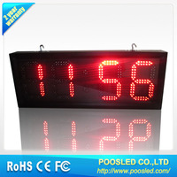 street clock board \ led digital clock display \ outdoor waterproof clock