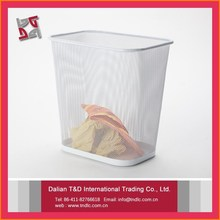 B83516 Factory Hot Sale And Most Popular New Creative Square Metal Mesh Cheap Waste Basket
