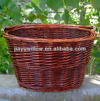 willow wicker bicycle basket pet bicycle basket pet carrier basket