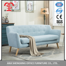 China furniture living room blue fabric sectional sofa