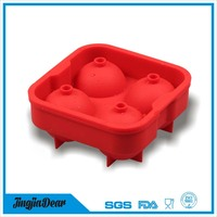 Mini and small silicone ice ball shape cube tray for whisky/beer with lid