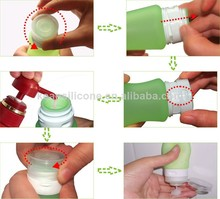 BPA free silicone contact lens solution bottle