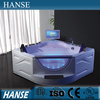 HS-B286A corner beautiful kind of best led massage bathtub for bathroom
