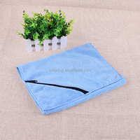 gym towel wholesale custom microfiber sport towel with pocket