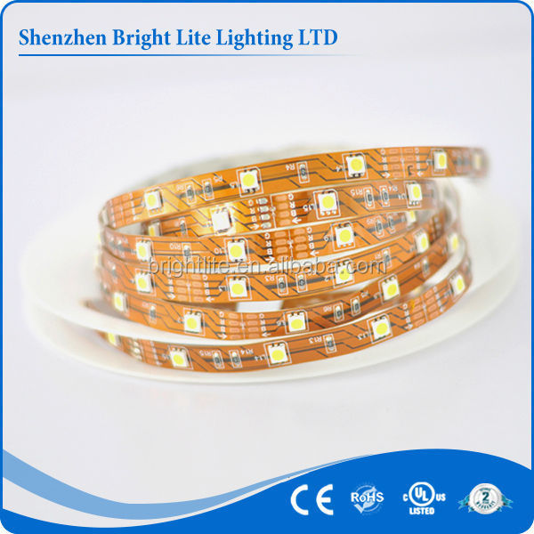 12V DC 5M 150led Nonwaterproof Cuttable Flexible 5050 Yellow rgbw led strip