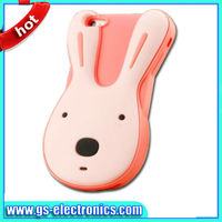 Hot Sale For iphone 5 3D silicone rabbit Case