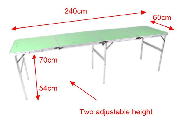 4 Sestions (2.4m 8') multi game table beer pong folding table