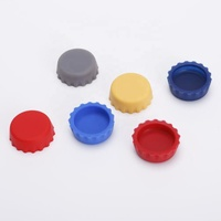 Food Grade Glass Beer Bottles Customized Printing Logo Silicone Reusable Caps Lids Covers Stoppers Sealer