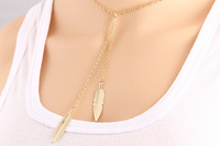 2016 fashion jewelry necklace made in China wholesale gold grass
