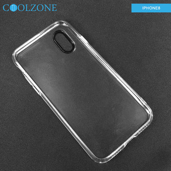 High transparent TPU case with black camera ring for iPhone 8 mobile phone accessories